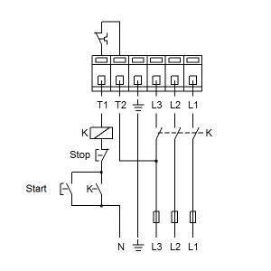 Схема подключения UPS 65-180F-340(3х400)