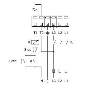 Схема подключения UPS 50-180F-280(3х400)