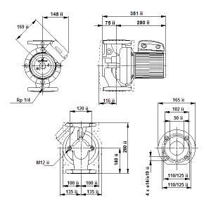 UPS 50-180F-280(1х230)