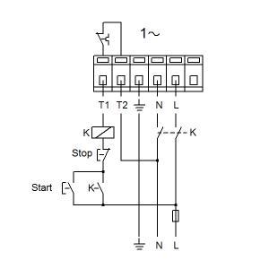 Схема подключения UPS 50-180F-280(1х230)