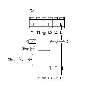 Схема подключения UPS 50-120F-280(3х400)