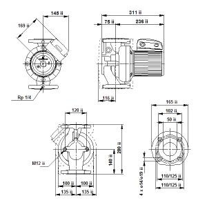UPS 50-120F-280(1х230)