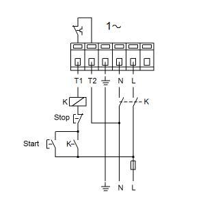 Схема подключения UPS 50-120F-280(1х230)
