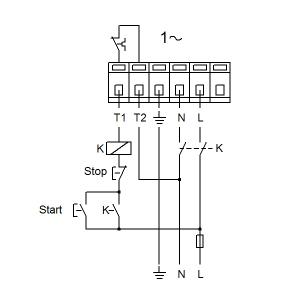 Схема подключения UPS 40-180F-250(1х230)