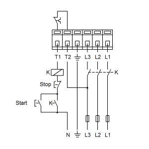 Схема подключения UPS 40-120F-250(3х400)