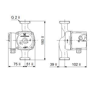 Насос циркуляционный UPS 32-40-180 (1 x 230)