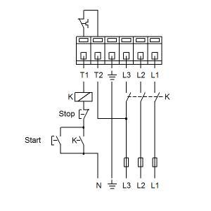 Схема подключения UPS 32-120F-220(3х400)