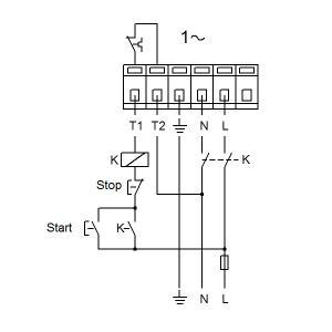 Схема подключения UPS 32-120F-220(1х230)