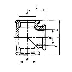 Тройник неоцинкованный ГОСТ 8948-75